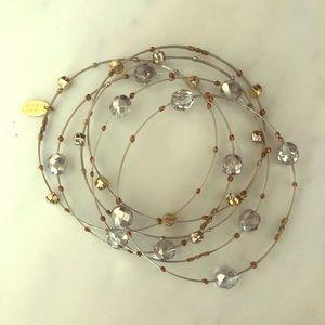 Seasonal Whispers silver and gold bracelet set